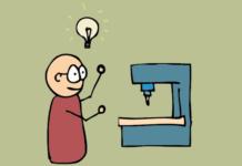 CNC Machine Illustration in Animation