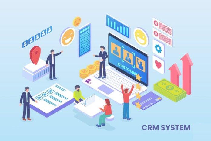 CRM System Illustration