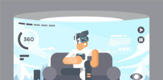 Virtual reality experience illustration