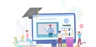 Online education illustration