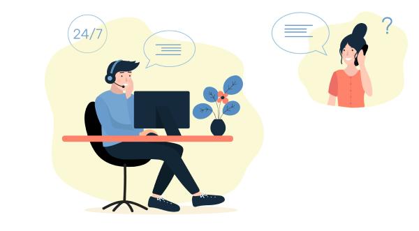 Computer support illustration