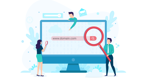 Domain search illustration