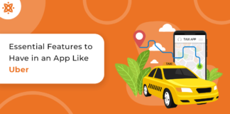 Taxi booking app features