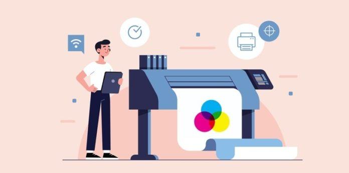Digital printing illustration