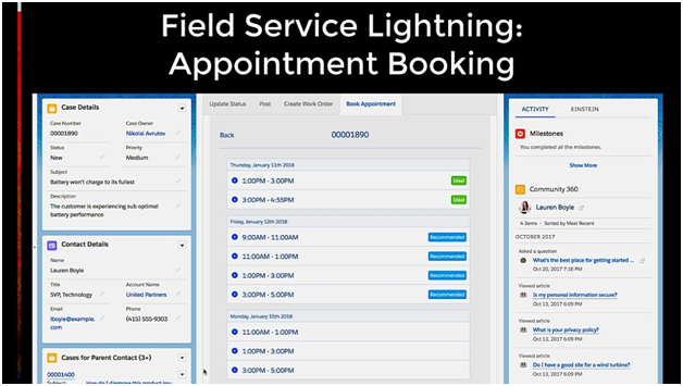 Appointment Booking - Field Service Lightning