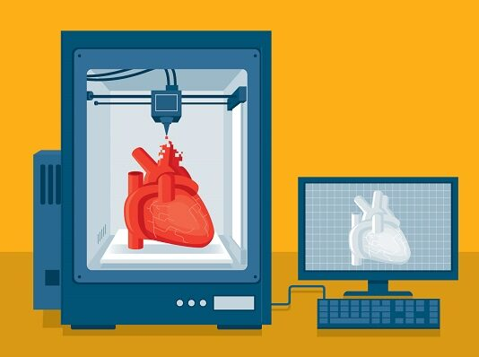 3D Printing illustration in medical