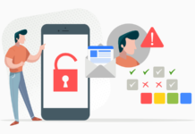 Mobile security illustration