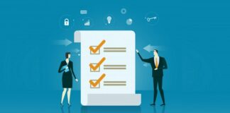 Business checklist illustration