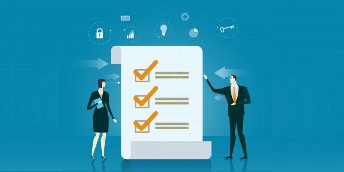 Business checklist illustration