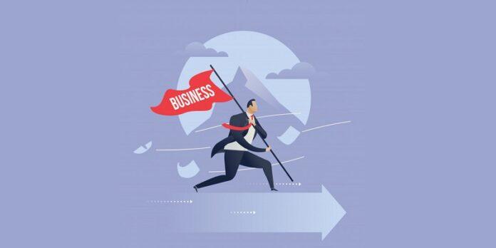 Business success illustration