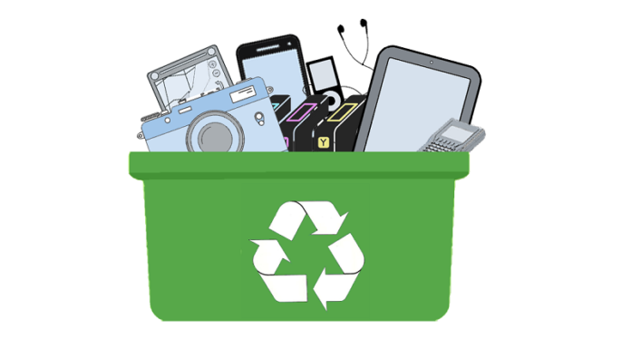 e-waste recycling illustration