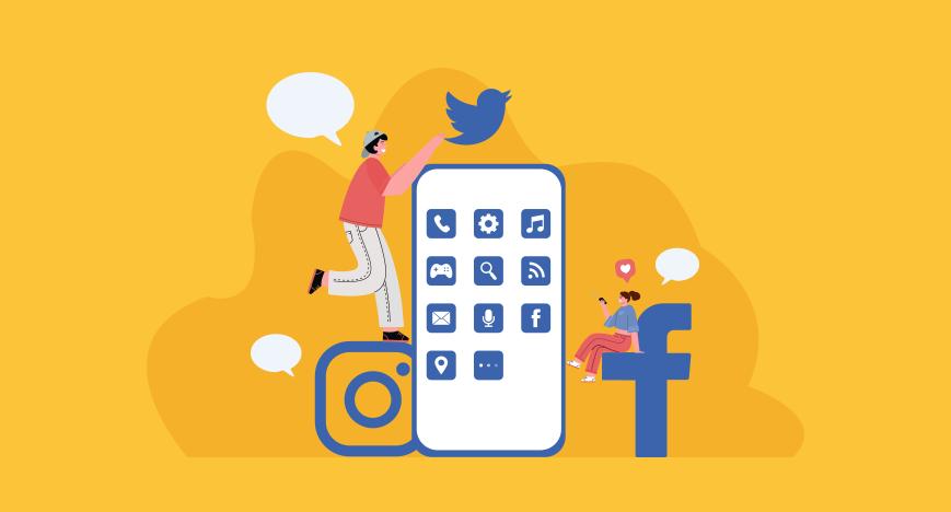 Social networking site illustration