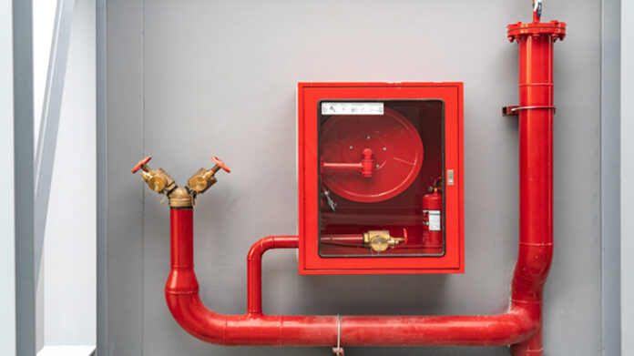 Business fire prevention system