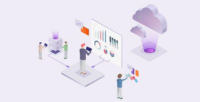 Cloud hosting illustration