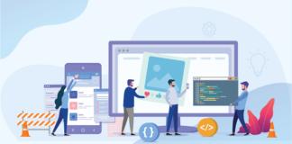 Web application illustration