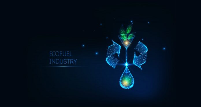 Biofuel industry illustration
