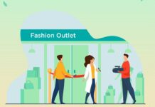 Fashion outlet opening illustration