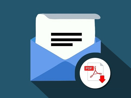 sending pdf over email concept