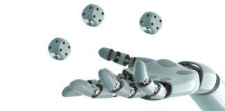Robot arm playing dice