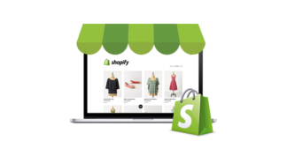 Shopify store online illustration