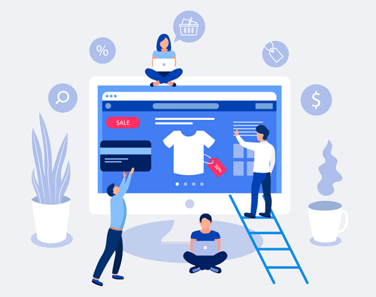 SEO for ecommerce illustration