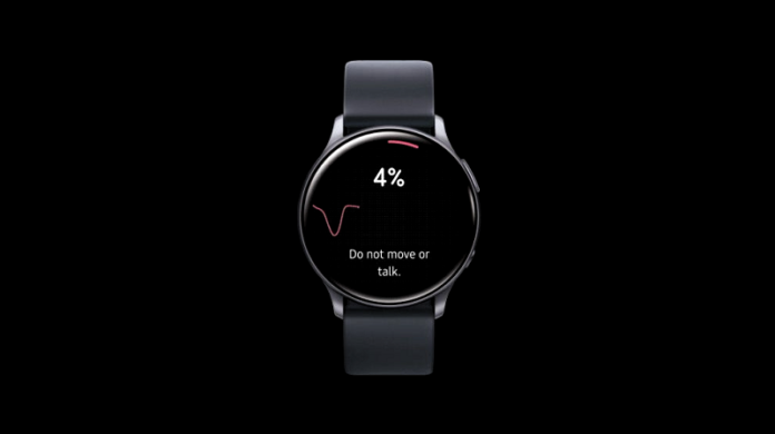 Smart watch with black background
