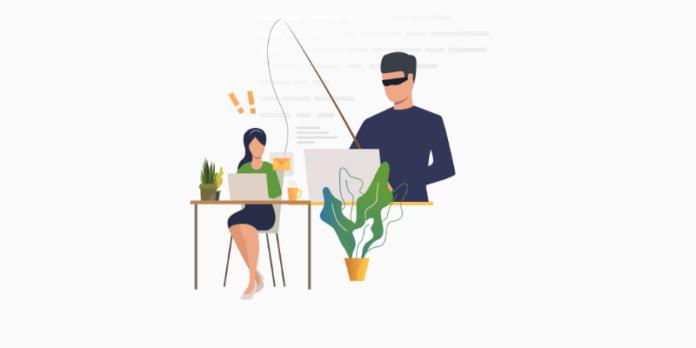 Phishing attack illustration