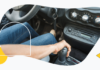 Anti brake system in a car illustration