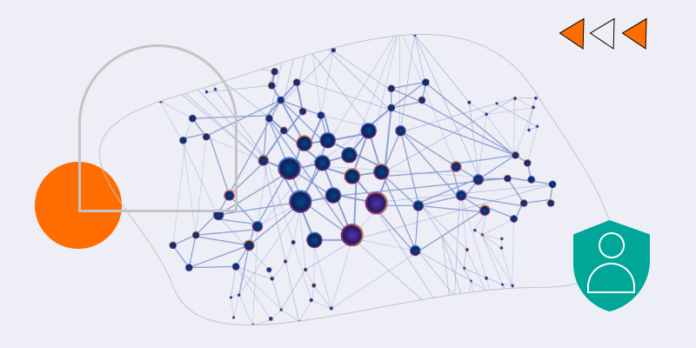 Open graph illustration with user icon