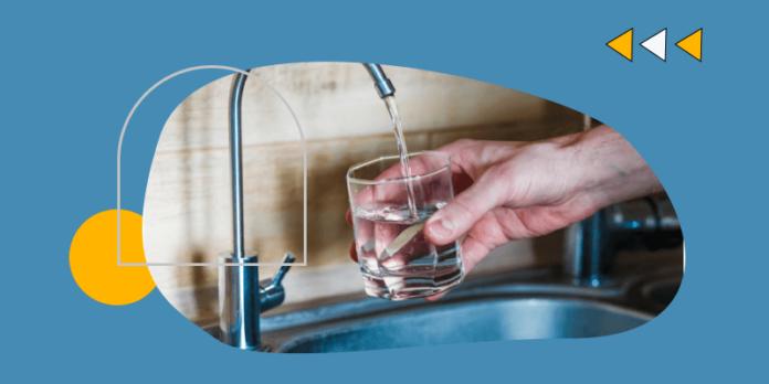Water flow in pipe