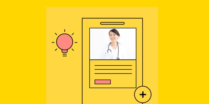 Clinic/hospital website illustration